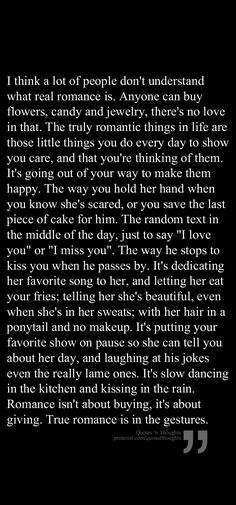 This... this is what I need in life... Someone who understands that it's the little things that matter the most ~H