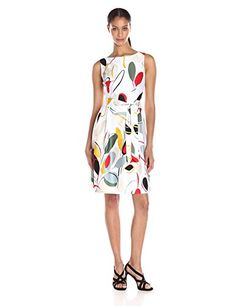 Anne Klein Women's Cotton Sateen Printed Fit and Flare Dress - http://darrenblogs.com/2016/06/anne-klein-womens-cotton-sateen-printed-fit-and-flare-dress/