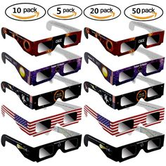 New Solar Eclipse Glasses Paper Safe Solar Viewing Protect Eyes10 20 50 100 Pack #Unbranded
