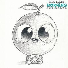 Big ol' Orange Head!  #morningscribbles