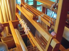 Mother's loom built by her father, Isaac L. Ogle.  She wove on it many years in her home/craft shop in Gatlinburg.