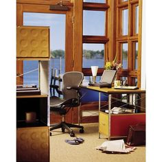 Eames Desks and Storage Units, Aeron Chair - Herman Miller