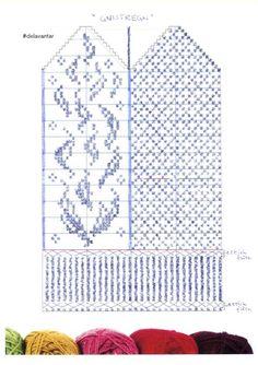 Jenny Bergh – Dela dina vantar! Knitted Mittens Pattern, Knit Mittens, Mitten Gloves, Knitting Socks, Knit Art, Wrist Warmers, Filet Crochet, Projects To Try, Cross Stitch