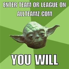 #starwars is taking over the Internet. #yoda would like to have a word with you. #AllTeamz the largest directory of #youth teams online. Add your league or organization today! #sports #youthsports #baseball #football #basketball #swimming #hockey #soccer #fastpitch #softball #fieldhockey #lacrosse #volleyball #cheerleading #gymnastics #futbol #trackandfield