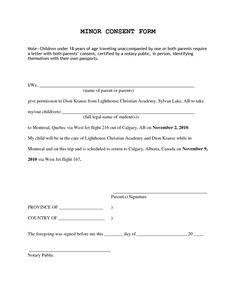 Parental consent/permission letter | Travel | Pinterest