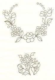 """Hungarian Embroidery Képtalálat a következőre: """"bauernmalerei çizimleri"""" Mexican Embroidery, Hungarian Embroidery, Folk Embroidery, Learn Embroidery, Vintage Embroidery, Ribbon Embroidery, Floral Embroidery, Cross Stitch Embroidery, Machine Embroidery"""