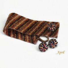 www.polandhandmade.pl #polandhandmade , #beading , #jewelry....like the superduo button