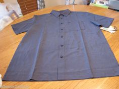 Men's Quiksilver short sleeve NEW S SM navy button up shirt sea legs surf skate
