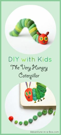 DIY tutorial for children on how to make the very hungry caterpillar craft with polymer clay. If you do not have polymer clay, Plasticine will work as well!
