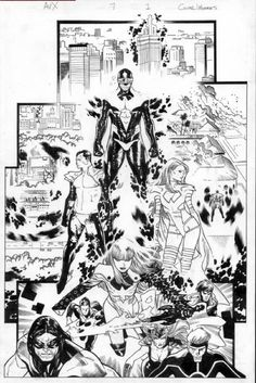 Olivier Coipel A vs X Issue 7 Page in Ryan Otto's Splash Pages Comic Art Gallery Room Marvel Comics, Marvel Comic Universe, Bd Comics, Comics Universe, Comic Book Artists, Comic Artist, Comic Books Art, X Men, Comic Book Panels