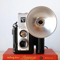 Vintage Camera Argus Argoflex Forty with Flash Attachment por vint