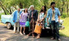 The cast of #FindingFanny share a laugh. Good times ahead? #DeepikaPadukone #ArjunKapoor #HomiAdajania #Dna