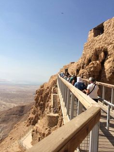 Walking up Masada mt.looking down on the valleybeneath!!!!