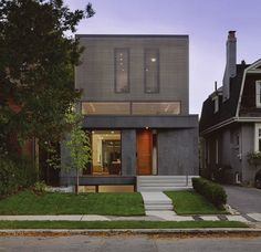 """Counterpoint House by Paul Raff Studio note big clerestory windows for first floor and big window well for basement windows. Conceptually the """"well"""" could be a full story deep--and a number of feet wide to really let in lots of light."""