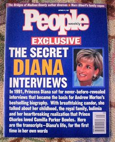 people magazine with princess diana on cover - Google Search