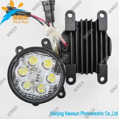 84.00$  Watch now - http://aligum.worldwells.pw/go.php?t=1741426200 - Wholesale Price High quality 6 LED Aluminum housing DRL LED car fog lights for PEUGEOT Ford RENAULT S UZUKI C ITROEN MI TSUBISHI