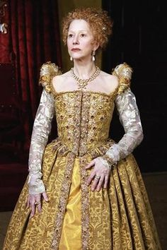 The accomplished Helen Mirren as Elizabeth I in the HBO miniseries, 'Elizabeth I'.
