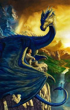 Contemporary - Dragon companion. Why is it we need huge dragons as companions - fear of the big bad world? Ciruelo Cabral