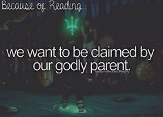 Because of Reading... Book: the Percy Jackson series: