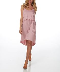 Take a look at the Pinkblush Rose Hi-Low Blouson Dress on #zulily today!