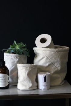 #Canvas #Storage / #Plant #Pots - Set of 3 #White #Bathroom  http://www.rockettstgeorge.co.uk/canvas-storageplant-pots---set-of-3-white-28435-p.asp