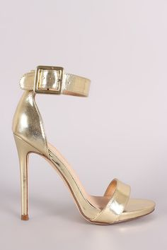 This lovely heel features an open toe silhouette, wrapped stiletto heel, lightly…