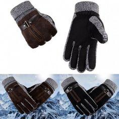 Fashion Women Men Winter Warm Motorcycle Ski Snow Snowboard Gloves Warm Cashmere Lining Tactical Gloves - My Store