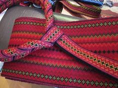 The belt from the beltestakk (Telemark) Inkle Weaving, Inkle Loom, Card Weaving, Tablet Weaving, Folk Costume, Costumes, Love Actually, Weaving Textiles, Weaving Projects