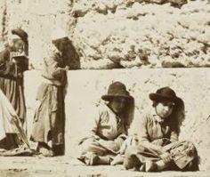 The Children of the Western Wall 100+ Years Ago   ...