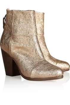 Rag & bone | Newbury metallic textured-leather ankle boots | NET-A-PORTER.COM