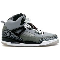 Air Jordan Spizike Cool Grey ❤ liked on Polyvore featuring shoes, sneakers and jordans