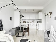 life as a moodboard: Gorgeous Apartment in Grey | Scandinavian style