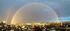 東京上空に二重の虹がかかる 「異世界への入り口っぽい」と話題に - ライブドアニュース double rainbow, Tokyo, 7/11/2014
