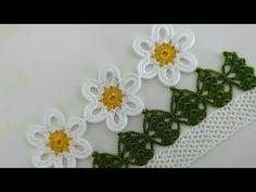Newest Towel Edge Crochet Needlework Models Crochet Mandala, Filet Crochet, Crochet Flowers, Easy Crochet, Crochet Stitches, Crochet Towel, Crochet Skirts, Viking Tattoo Design, Sunflower Tattoo Design