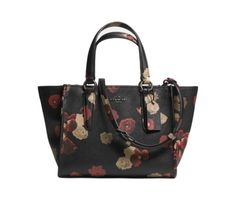 COACH MINI CROSBY CARRYALL IN FLORAL PRINTED LEATHER