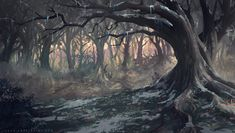 Background for Netflix Castlevania' Animated Series ( Powerhouse Animation Studios / Frederator ) Learn Environment Design & Concept Art for Video Games in a workshop ==> itsartm. Forest Background, Landscape Background, Animation Background, Fantasy Forest, Dark Fantasy, Fantasy Art, Landscape Concept, Fantasy Landscape, Nocturne