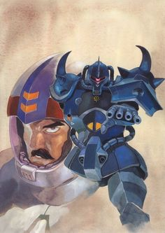 Ramba Ral (ランバ・ラル Ranba Raru) is a 35 year old from Side 3. He currently serves as a lieutenant for the Principality of Zeon. Ramba is also a mobile suit pilot, he currently pilots the MS-07 Gouf.