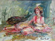 Léon Luret-femme au turban