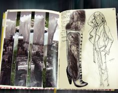 Fashion Sketchbook - footwear design drawings & visual reference - layout; illustration; fashion portfolio // Anastasia Radevich