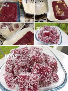 to make Pomegranate Tiny Turkish Delight Recipe? Pomegranate in the book of people . -How to make Pomegranate Tiny Turkish Delight Recipe? Pomegranate in the book of people . Köstliche Desserts, Delicious Desserts, Yummy Food, Turkish Delight, Snack Recipes, Dessert Recipes, Yummy Recipes, Cakes Plus, Light Snacks