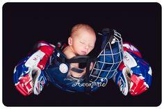 Hockey Helmet Baby Photo