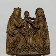 Gruppe der Hl. Anna Selbdritt (Nürnberger Schule, ca. 1500, Germanisches Nationalmuseum, Nürnberg)