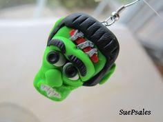 Halloween Earrings Frankenstein Earrings Scary by SuePsales, $6.00