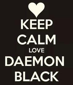 Keep calm love Daemon Black