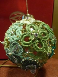 Irish crochet bauble made by Olga Starastsina on show in Clones Lace Museum, Ulster Canal Stores Visitor Centre Irish Crochet, Crochet Lace, Irish Traditions, Irish Lace, Bauble, Centre, Christmas Bulbs, Museum, Holiday Decor
