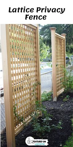 Backyard Privacy Screen, Privacy Fence Landscaping, Privacy Fence Designs, Outdoor Privacy, Backyard Fences, Backyard Landscaping, Landscaping Ideas, Privacy Trellis, Privacy Fences