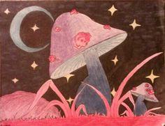 Collection: Mushrooms Artist: Kristina Simone Media: Colored Pencils, Markers