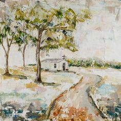 Chapel on Farm Road - Southerin-Inspired canvas art by Sarah Robertson