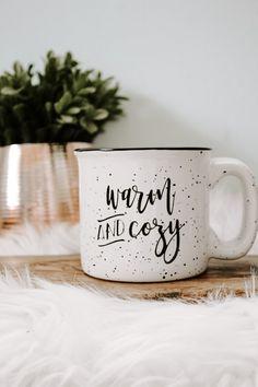 Warm and Cozy campfire mug Cabin Coffee, Coffee Cozy, Morning Coffee, Cute Coffee Mugs, Cute Mugs, Ceramic Cafe, Sweet 16 Gifts, Mug Cozy, Autumn Coffee