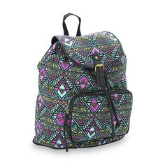 Bongo Junior's Canvas Backpack - Tribal Print